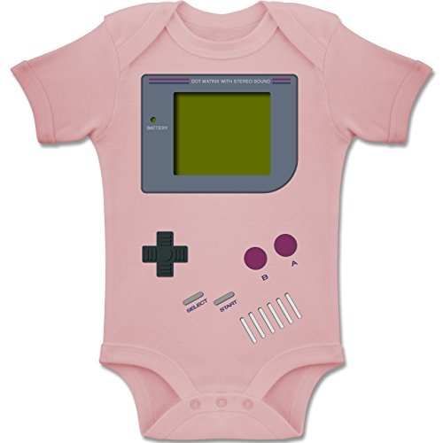 Shirtracer Strampler Motive - Gameboy - 12-18 Monate - Babyrosa - BZ10 - Baby Body Kurzarm Jungen ()