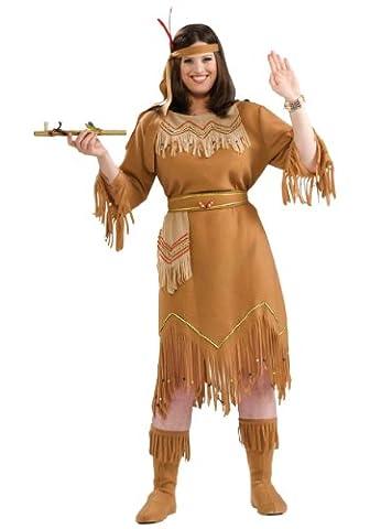 Plus Size Native American Fancy dress costume 2X (Bead Trim Top)