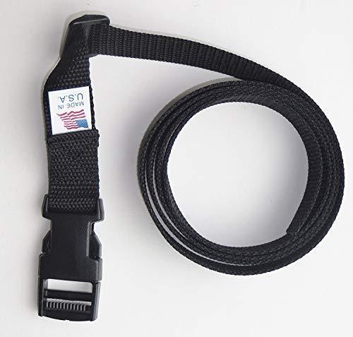 2,5cm Heavy beschleunigungskraft Web Belt-137,2cm (lang geschnitten 152,4cm) seitliche Schnalle -