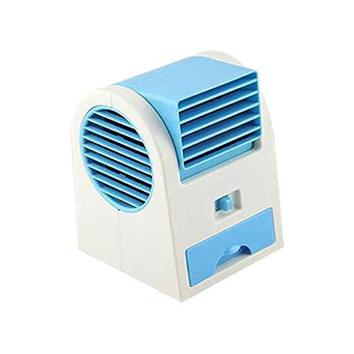TIMEMEAN Portátil USB Función Frío Mini Aire Acondicionado para Coche Hogar Ventilador Hogar Refrigerador Nuevo Diseño Exclusivo Función 3 Velocidades Carga Ajustable