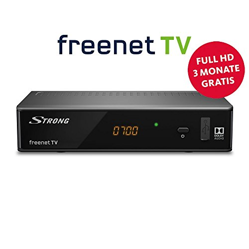Strong SRT 8541 Full-HD-HEVC-DVB-T2 Receiver, freenet-TV (HDTV, HDMI, LAN, Scart, Dolby, Mediaplayer) Schwarz