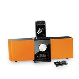 Logitech Pure-Fi Express Plus Lautsprechersystem für iPod/iPhone orange
