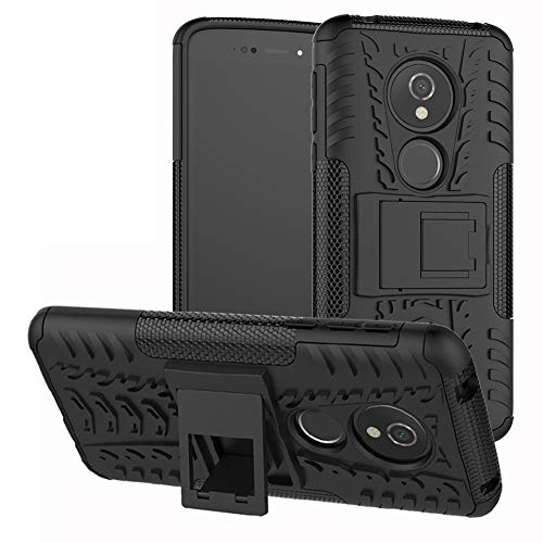 Labanema Moto E5 / G6 Play Hülle, Abdeckung Cover schutzhülle Tough Strong Rugged Shock Proof Heavy Duty Case Für Motorola Moto E5 / G6 Play-Schwarz