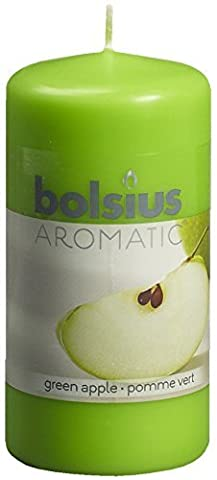 Aromatic 103626640185 Green Apple Pillar Candle, Paraffin Wax, Green Apple by Aromatic