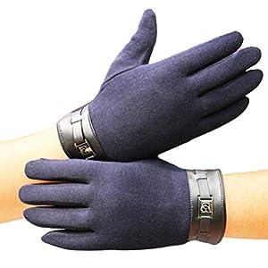 LIOOBO 1 Paar Männer Handschuhe Warm Touchscreen Schutz Verdicken Langlebige Handschuhe Handschuhe für Outdoor-Klettern Reisen Männer Jungen reiten