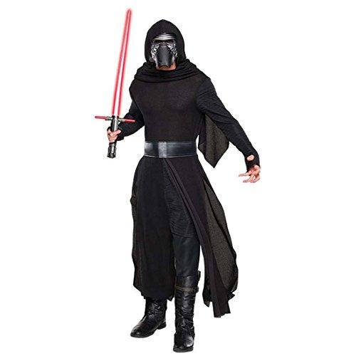 Kylo Ren Kostüm Herren Star Wars Herrenkostüm M/L 48/54 Dunkler Jedi Faschingskostüm Sith Verkleidung Männer Starwars Robe mit Maske Fantasy Karnevalskostüm Erwachsene
