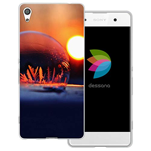 dessana Seifenblasen Frost transparente Schutzhülle Handy Case Cover Tasche für Sony Xperia XA Blase EIS