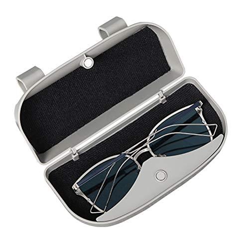 porta tessere multifunzione Scatola per occhiali da sole per auto pratica portaocchiali da sole con pacchetto di protezione per castone staffa per aletta parasole per auto