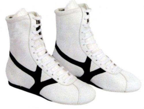 Box-Stiefel Boxstiefel Nylon (weiß-schwarz, 45)