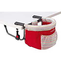 Safety 1st Smart Lunch - Silla portátil para sujetar a la mesa, color Red Lines