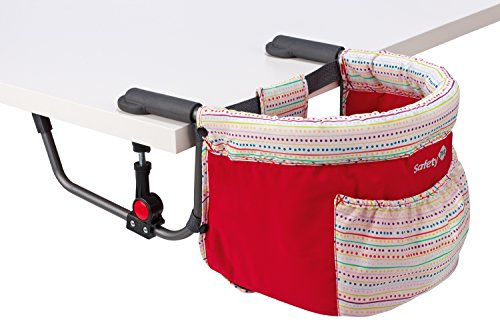 Safety-1st-Smart-Lunch-Silla-porttil-para-sujetar-a-la-mesa-color-Red-Lines