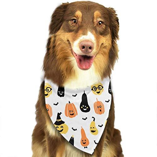 Pet Bandanas Halloween Lustige Kürbis Gesichter Einstellbare Halsbänder Pet Bandana Lätzchen Für Welpen Katzen (Kürbis Pet Bandana)