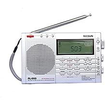 Radar® TECSUN PL-660 Portable AM/FM/LW/Air Shortwave World Band Radio with Single Side Band (Silver)
