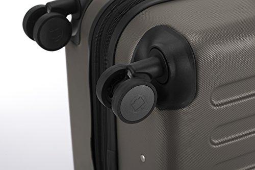 Hauptstadtkoffer - Spree - Handgepäck Hartschalen-Koffer Trolley Rollkoffer Reisekoffer Erweiterbar, TSA, 4 Rollen, 55 cm, 42 Liter, Graphit - 8