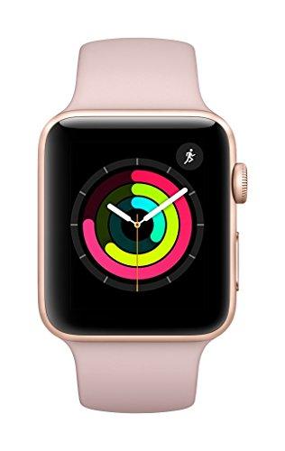 Apple Watch Series 3 GPS 42mm Smart Watch (Gold Aluminum Case, Pink Sand Sport Band)
