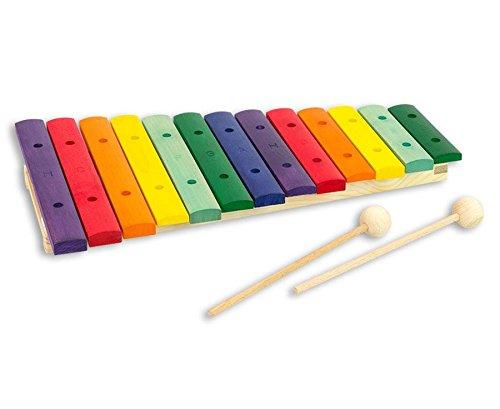 Goldon Xylophon, 13 Töne h2-g4, fein gestimmte Klangplatten, bunt, farbig - Kinder-Xylofon Musik musizieren Musikunterricht Schule Kindergarten Spielzeug Spielzimmer Holzxylophon Holzinstrumente