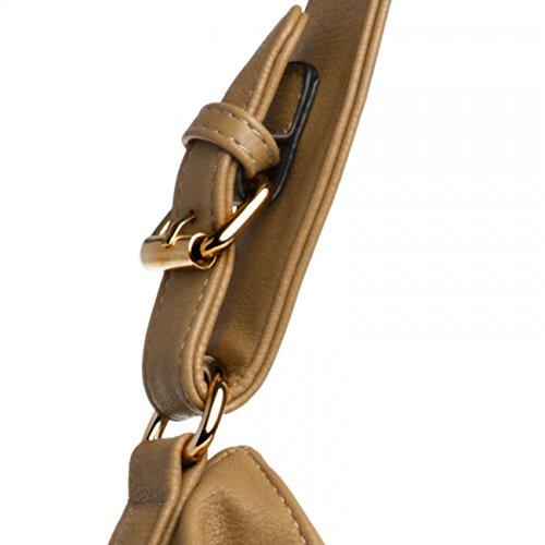 CASPAR TS940 Damen Schultertasche Camel