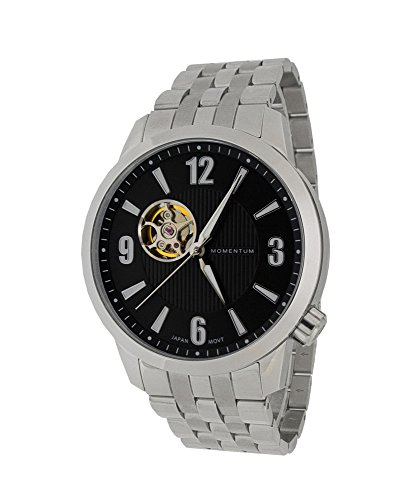 Momentum Men's ' Automatic Stainless Steel Casual Watch, Color:Silver-Toned (Model: 1M-SN90BS0)
