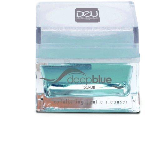 Sanftes Peeling für das Gesicht - DeU deepblue Scrub Visage - Gesichtspeeling mit Blaualgen, Jojoba Mikrosphären & Phytinsäure für unglaublich schöne und strahlende Haut - hypoallergen