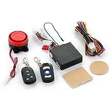 Zimo - Alarma Sistema de Seguridad Anti-robo Vibración Sensor Remoto para Motos Motocicleta Scooter