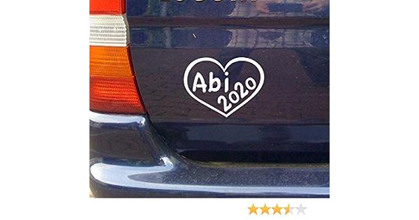 mit Herz cartattoo4you/® AB-02265 20 x 10 cm K-Serie ABI 2020 Farbe wei/ß gl/änzend|in 23 Farben erh/ältlich Autoaufkleber Aufkleber Car Sticker Heckscheibe Abitur Spruch,Versand frei