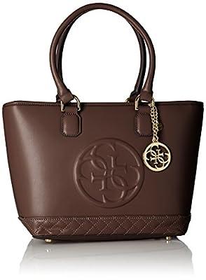 Guess - Bolso para mujer, color marrón oscuro
