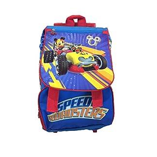 41R8uRTyn3L. SS324  - Disney Mickey Mouse Mochila Escolar con Ruedas, Mochila Escolar Extensible Trolley Roller Mochila Escolar con Ruedas, Mochila con Carro de la Escuela, Trolley Mochila