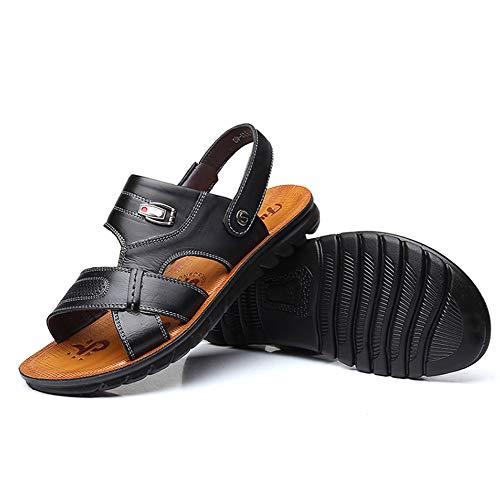Männer Clogs Strand Sandalen Hausschuhe guckzehen flach dual verwenden Casual Wasser Schuhe Sommer Anti geschoben Wasserschuhe für sonnenbad Pool aktivität im freien entspannen (Hotels In Der Nähe 9)