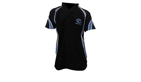 OPTIMUM Maillot de Rugby Noir Bleu