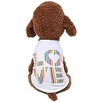 Karinao - Ropa para Mascotas para Verano, Transpirable, Bonita Ropa para Perros, Chaleco para Mascotas, Cachorros, Camiseta de algodón