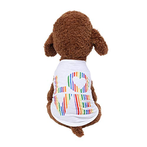 dung Sommer Dünnschliff Mode Haustier Englisch Liebe Show Liebe Weste Komfortable Wilde Farbe Geeignet Für Kleine Und Mittlere Hunde Und Katzen Haustier Kleidung ()