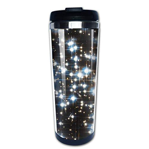 Sparkle Star Field Dark Galaxy Stainless Steel Coffee Tumbler Insulated Thermos Cup Travel Mug