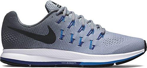 Nike Air Zoom Pegasus 33, Scarpe da Ginnastica Uomo Grigio/nero-grigio (Wolf Grey/Black-Dark Grey)