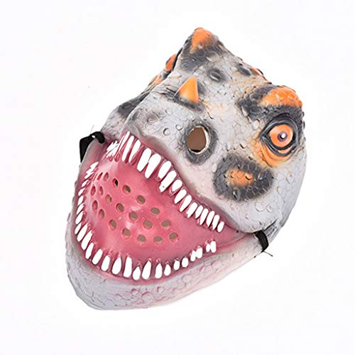 Schwarzer Anzug Trennt (ToDIDAF Halloween Maske Dinosaurier-Gesichtsmaske Gruseliger Horror Silikon Scary Toy Cosplay Halloween Kostüm Requisiten für Karneval Maskerade Party Dekoration (Grau))