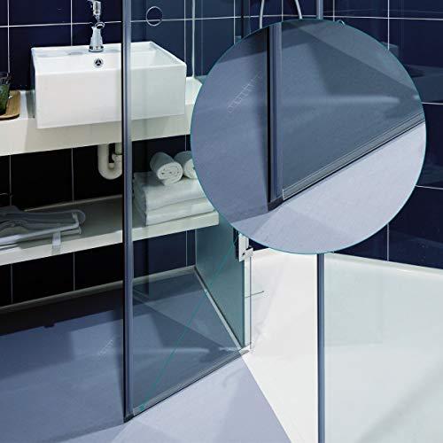 41R8xG77VjL - Navaris junta de recambio para ducha - Repuesto para puerta de vidrio con grosor de 6MM - Sello protector contra salpicaduras 180° de 80CM de largo
