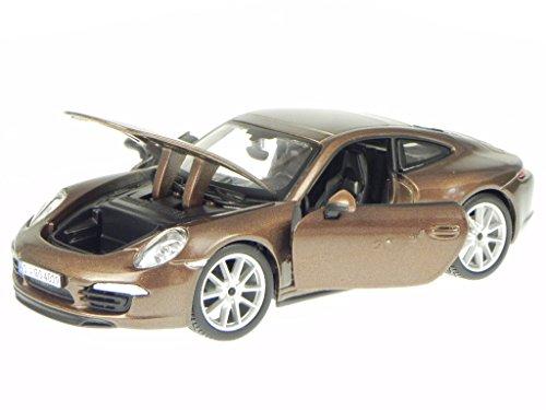 Porsche 911 991 Carrera S 2011 braun Modellauto 21065 Bburago 1:24