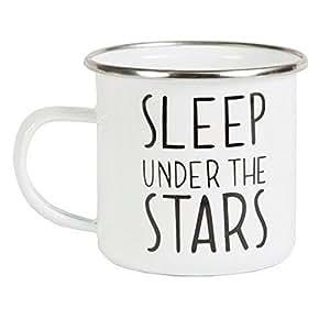 SLEEP UNDER THE STARS ENAMEL MUG