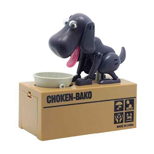 (shangjunol Netter Welpen-Münze Bank Choken Robotic Dog Bank Doggy Münze Bank Canine Kunststoff Saving Money Box)