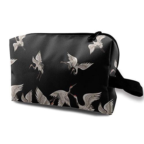 Reise-hängende Kosmetiktaschen Apanese Cranes Poses Multi-Functional Toiletry Makeup Organizer makeup bag - Cowgirls Supplies Party