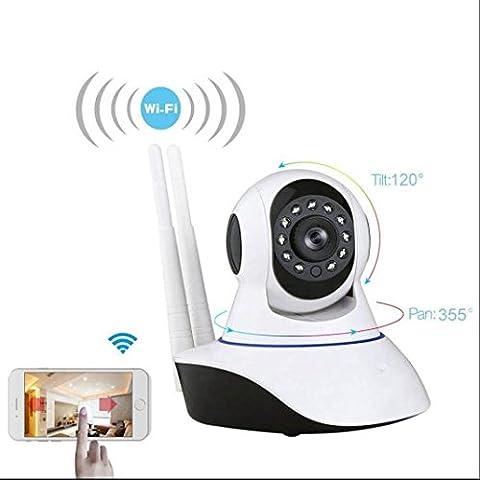 Kabellose Full HD IP Kamera,die beste Leistung,lange Lebensdauer 720P Wlan IP Sicherheitskamera,Leistungsstarke IR LEDs,Infrarot Nachtsicht,PIR Wärmesensor,Weitwinkel,SD Karte,Aufnahme,Audio