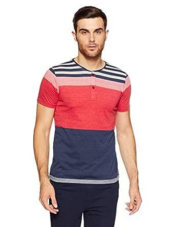 Qube By Fort Collins Men's T-Shirt (177-hstr_Medium_Multicolor 1)