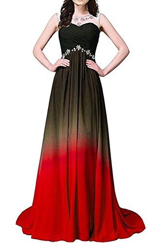 Gorgeous Bride Elegant Lang Traegerlos Empire Chiffon Abendkleider Festkleid Ballkleid Z-Style G