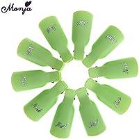 Lecimo 10 Unids PláStico Arte De UñAs Soak Off Clip UV Gel Removedor De Esmalte Keeper Wrap Cap Herramientas, 4#