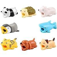 Shenye 8PCS Kabel Biss für iPhone Kabel Cord Cute Tier Bite Kabel Tiere Telefon Zubehör schützt Kabel Zubehör (8 pcs)