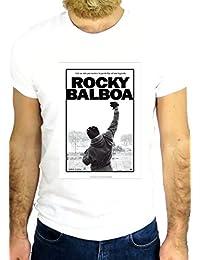 T-camiseta de manga corta - De Katrina Hawkins Collection JOHNNY - Rock Balboa Póster de JD1 IMG_PER63