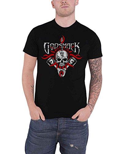Godsmack T Shirt Chrome Pistons Band Logo Nue offiziell Herren