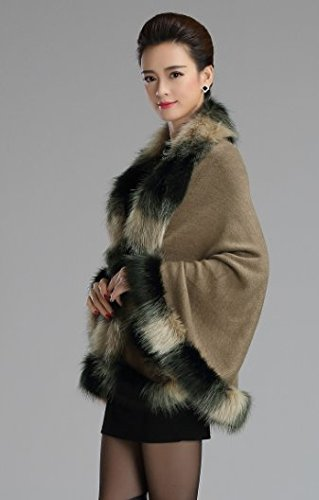 PLAER Damen Umhang Mantel One size Khaki
