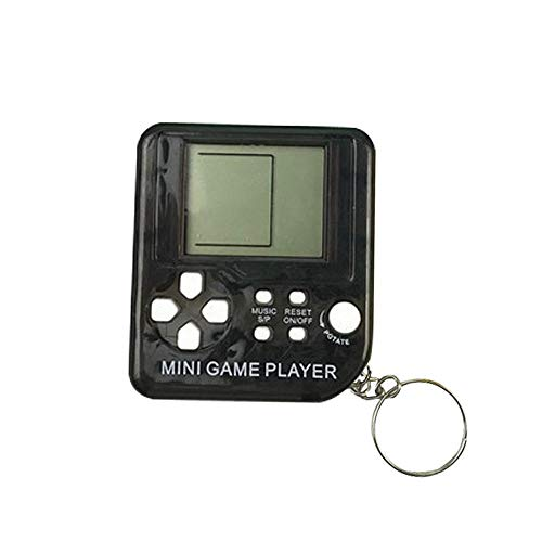Womdee Mini Tetris - Llavero de Jugador de Juego, Consola de Juego portátil con 26 Juegos, 26 en 1, Pantalla LCD de Bolsillo, Reproductor de Juego portátil para niños y Adultos