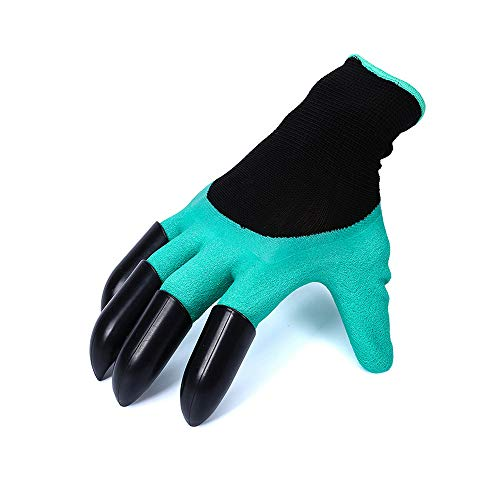 Amazing 1 Paar Gartenhandschuhe für Garten Graben Pflanzen Garten Genie Handschuhe mit 4 ABS Kunststoff Krallen