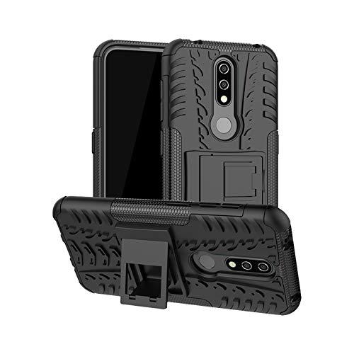 betterfon   Nokia 4.2 hülle Outdoor Handy Tasche Hybrid Case Schutz Panzer TPU Silikon Hard Cover Bumper für Nokia 4.2 Schwarz